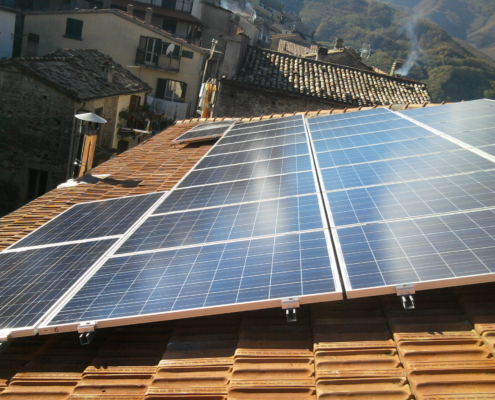 Impianto da rinnovabili a casa di Dario Brunori
