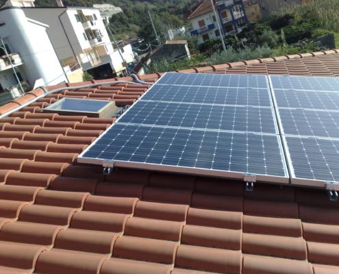 Impianto fotovoltaico casa Guardia